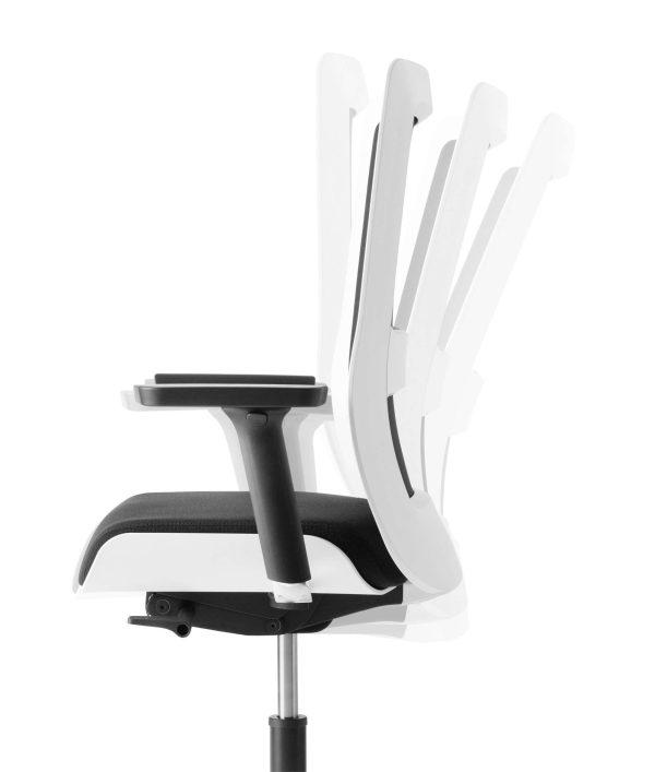 POI bureaustoel met synchroon-mechanisme | www.bureaustoel.nl