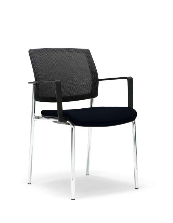 Gispen bezoekersstoel Zinn model B4 4-pts fr