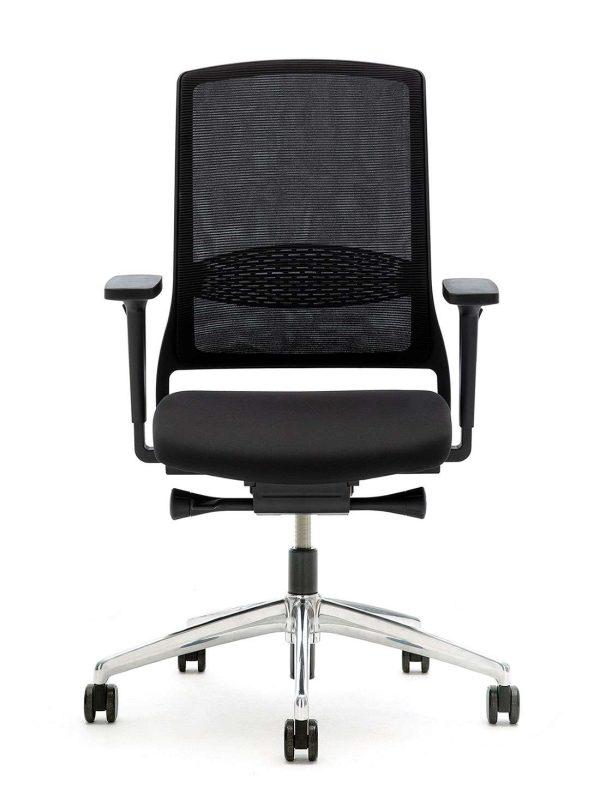 Gispen bureaustoel ZINN Smart. Kruisvoet aluminium gepolijst | www.bureaustoel.nl