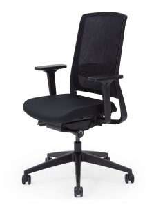 Gispen bureaustoel ZINN Smart. Kruisvoet kunststof zwart | www.bureaustoel.nl