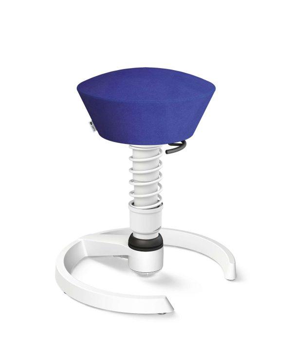 Aeris Swopper 101 Onderstel Wit op glijders Microvezel Comfort CM Blauw 04 Standaard Veer wit | www.bureaustoel.nl