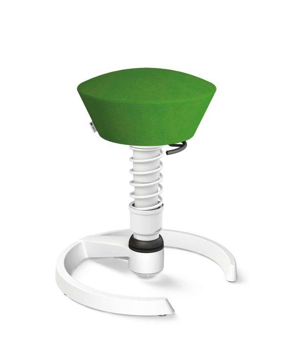 Aeris Swopper 101 Onderstel Wit op glijders Microvezel Comfort CM Groen 05 Standaard Veer wit | www.bureaustoel.nl