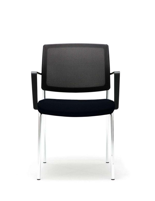 gispen-zinn-bezoekersstoel-b4-4-pootsframe-vooraanzicht   www.bureaustoel.nl